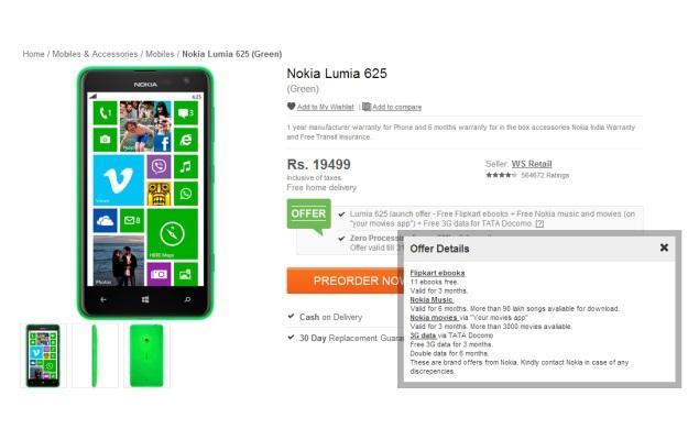 Nokia Lumia 625 pre-order