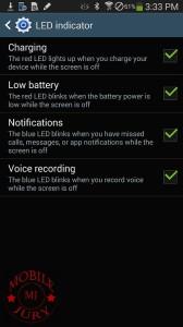 LED indicator settings_Samsung Galaxy Note 3 N9005