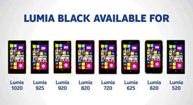Nokia Black update- Nokia Lumia 620