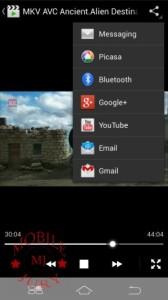 Video Player Sharing options- Karbonn Titanium S5 plus review
