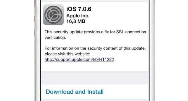 Apple provides iOS 7.0.6