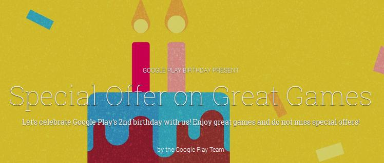 second birthday of Google Play