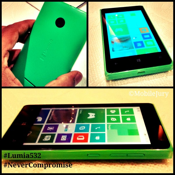 Lumia 532 launched with the Tagline 'Never Compromise'