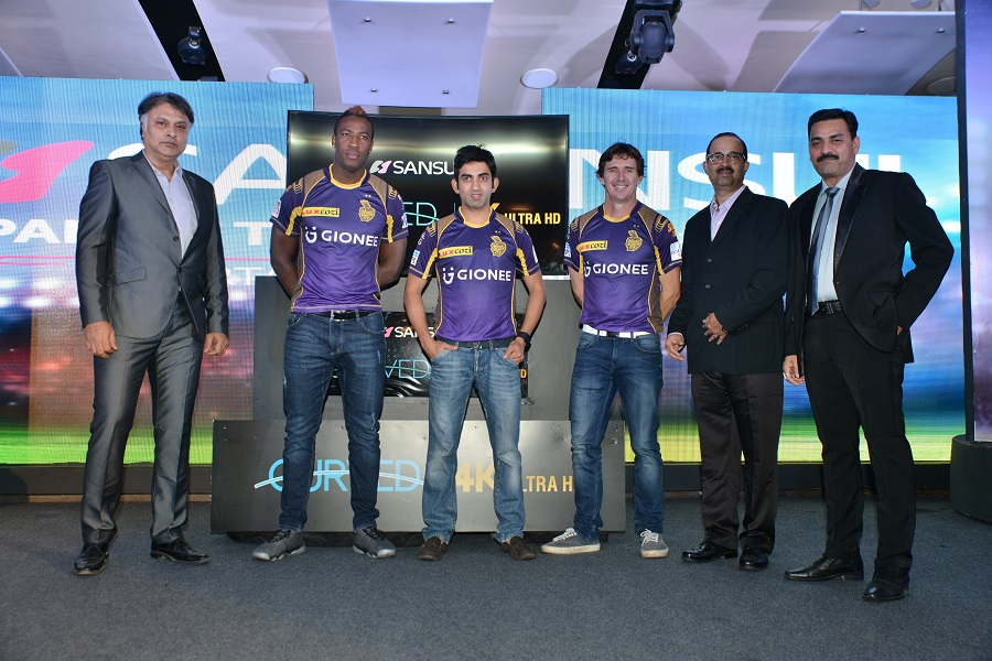 Sansui TV launch with Team KKR 1