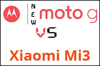 Xiaomi Mi3 vs Moto G